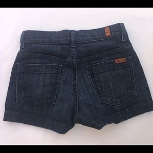7 For All Mankind High Waisted Shorts Size 25